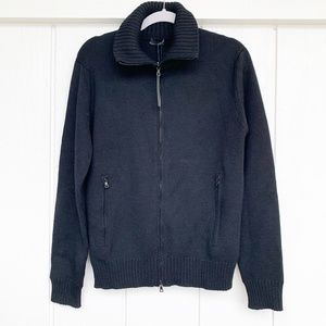 Prada Zip-Up Wool Sweater Jacket 48